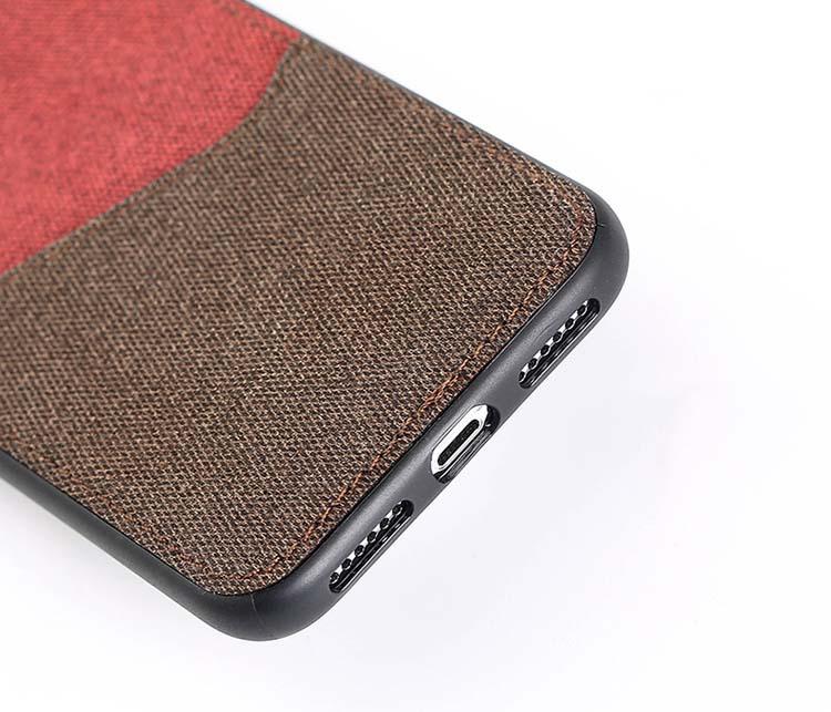 Ốp lưng iphone x/ xs max để thẻ + tự hít đế hít ô tô canvas cao cấp