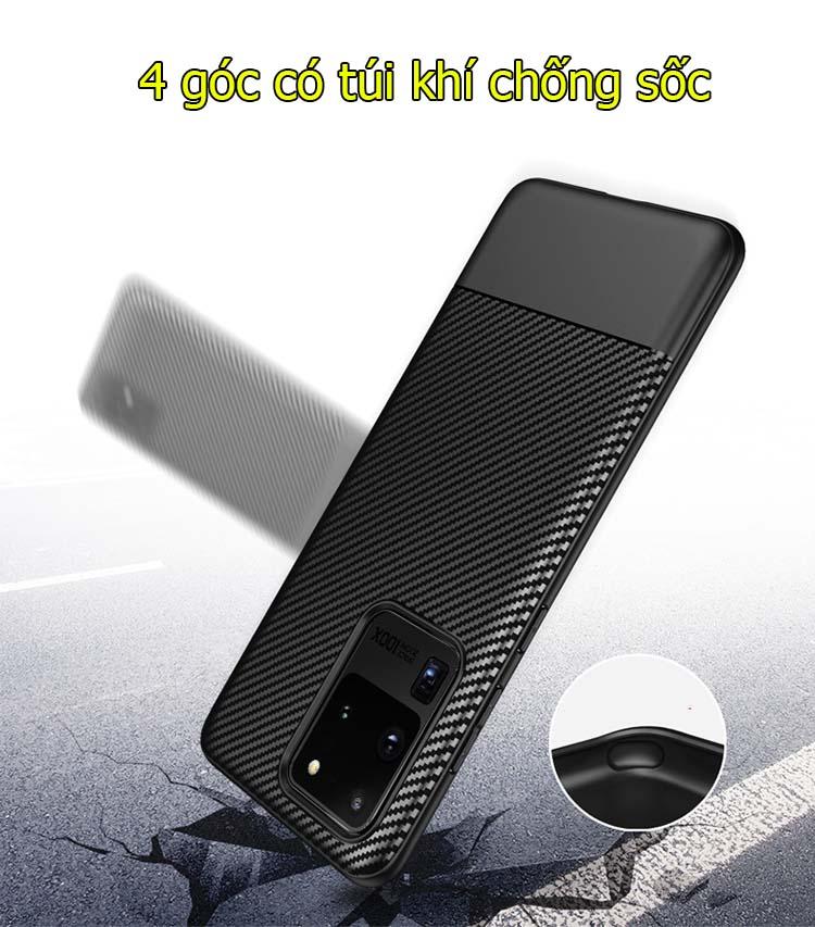 Ốp lưng samsung s20 ultra/ s20+ TPU carbon fiber
