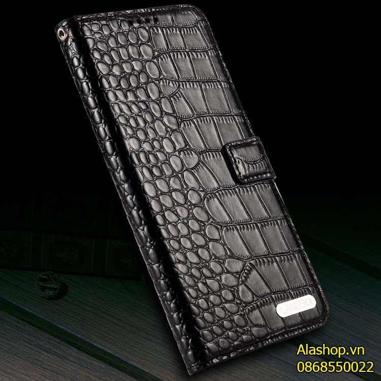 Bao da iPhone 11 Pro Max da bò vân cá sấu