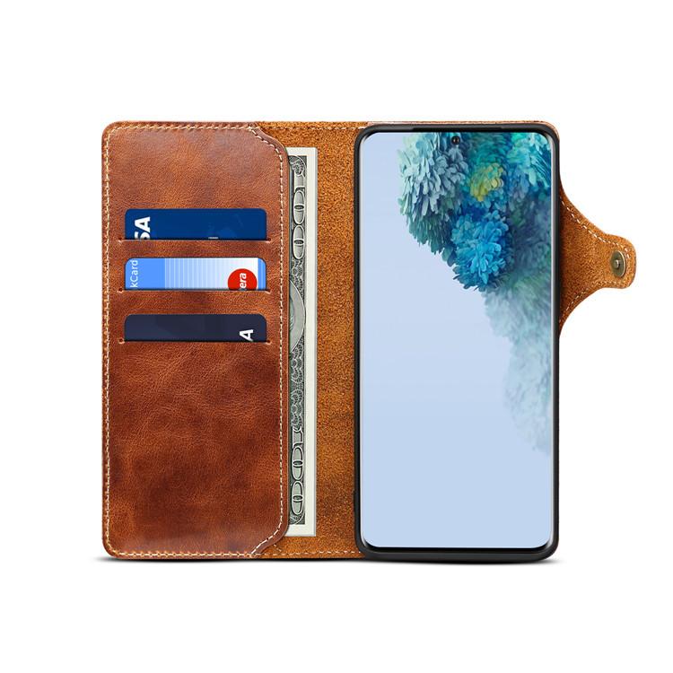 Bao da Samsung S20ultra/ s20+ da bò dạng ví cao cấp