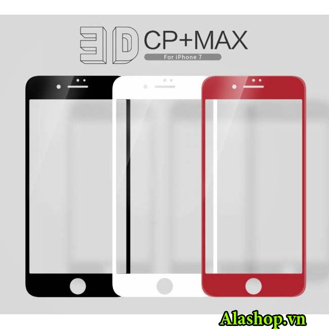 Kính cường lực 3D iPhone 7 Plus full màn hình chính hãng Nillkin