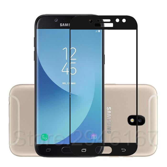Kính cường lực full màn hình Galaxy J7 Pro viền mầu thời trang