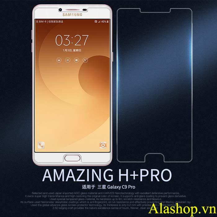 Kính cường lực Galaxy C9 pro Nillkin Pro H+ 0,2mm