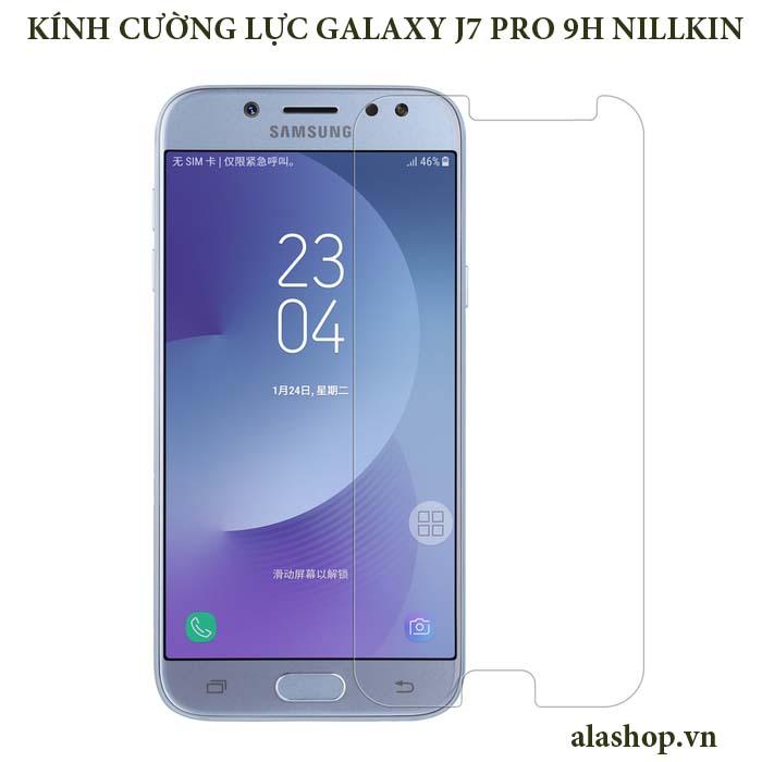 Kính cường lực Galaxy J7 Pro Amazing 9H Nillkin