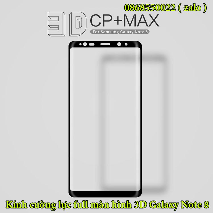 Kính cường lực galaxy note 8 3D CP+ Max Nillkin