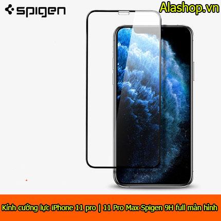 Kính cường lực iPhone 11 Pro max Spigen 9H Full màn hình