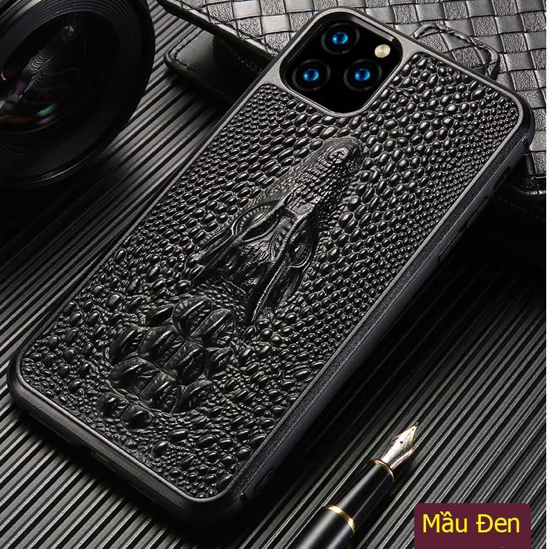 Ốp lưng da iPhone 11 pro max/ 11 pro đầu cá sấu 3D