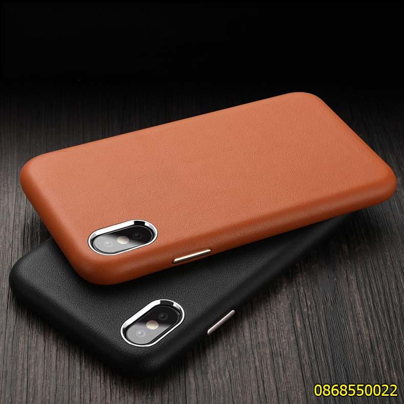 Ốp lưng da iPhone XS Leather cao cấp