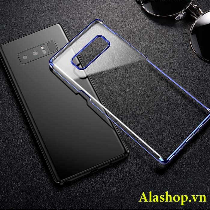 ốp lưng galaxy note 8 trong suốt mạ crom