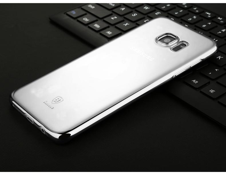 Ốp Lưng Galaxy S7 Edge Viền Màu Trong Suốt Hiệu Baseus