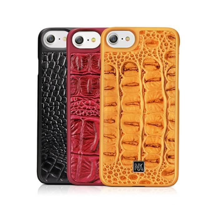 Ốp lưng iphone 8 plus 7,6 plus bọc da cá sấu cao cấp