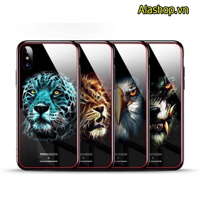 Ốp lưng iPhone 8 plus 7 plus hình thú 3D mặt kính