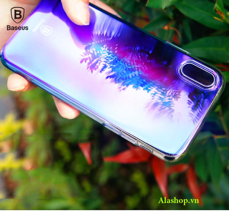 ốp lưng iPhone x cầu vồng trong suốt