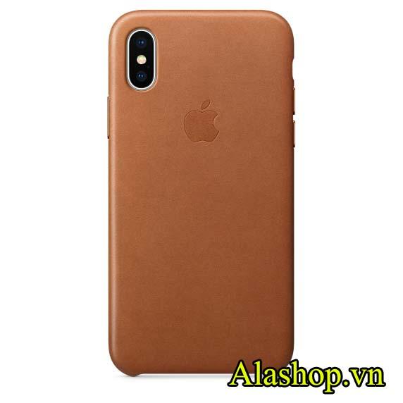 ốp lưng iPhone X, XS chính hãng Leather case