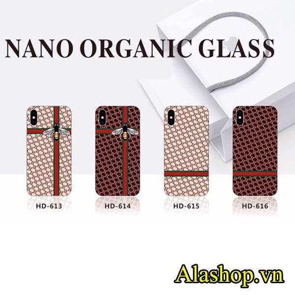 ốp lưng iPhone x lưng kính phủ nano