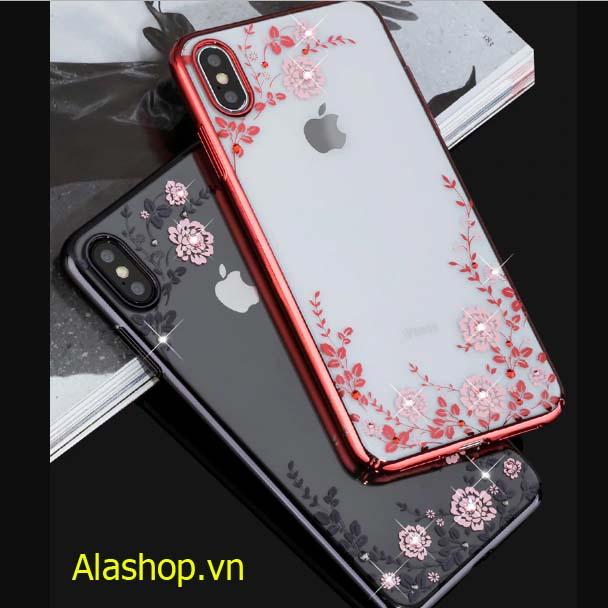 Ốp lưng iphone X/ XS đính hoa đá cao cấp