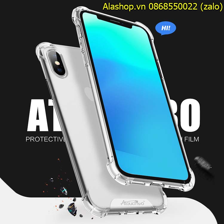 Ốp lưng iPhone XS MAX/ XS/ XR trong suốt chống sốc