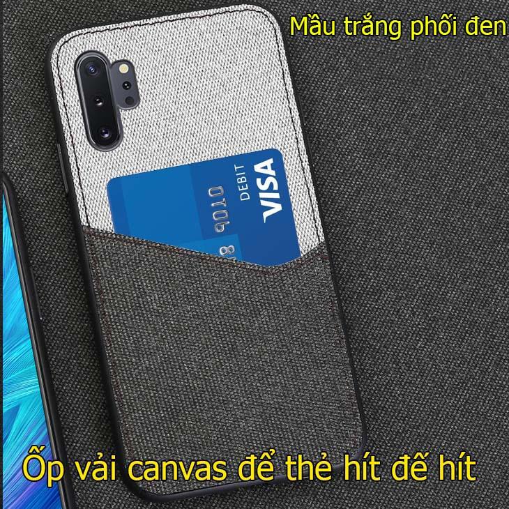 ốp lưng samsung note 10+/ note 10 canvas để thẻ tự hít đế hít ô tô