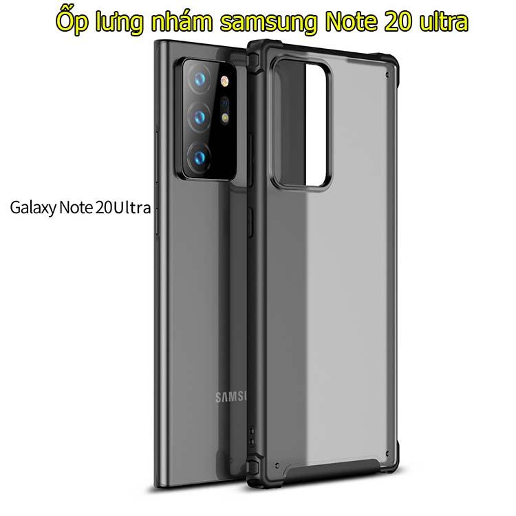 Ốp lưng Samsung Note 20 Ultra 5G nhám mờ bảo vệ 360 độ