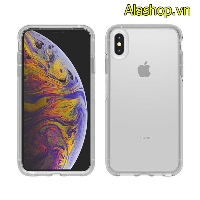 Ốp lưng trong suốt iphone Xs Max OtterBox Symmetry Clear cover