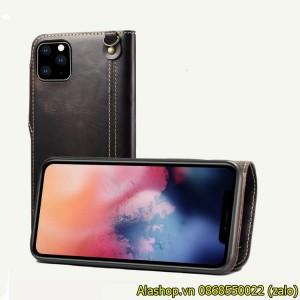 Bao da iPhone 11 Pro Max da bò dạng ví cao cấp