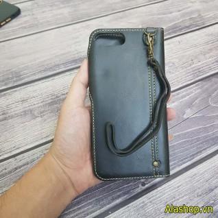 Bao da iPhone 8plus 7plus da bò dạng ví cao cấp