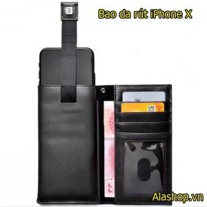 Bao da iPhone X ngăn ví dạng rút