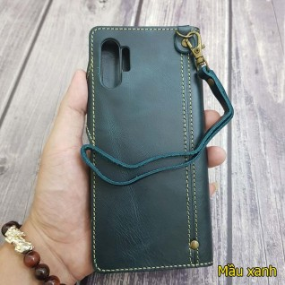 Bao da Samsung Note 10 Plus / note 10 da bò dạng ví cao cấp