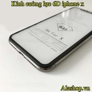 kính cường lực iPhone X 6D full màn hình