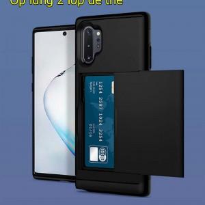 Ốp lưng 2 lớp samsung Note 10  plus để thẻ chống va đập