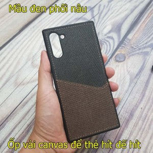 Ốp lưng canvas Samsung Note 10 để thẻ hít đế hít ô tô