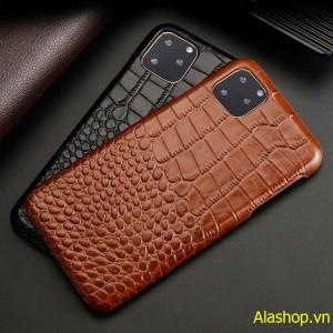 Ốp lưng da bò iPhone 11 Pro vân cá sấu