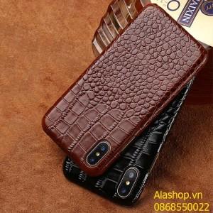Ốp lưng da bò iPhone 8 Plus/ 7Plus vân cá sấu