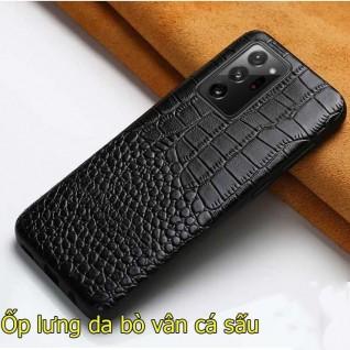 Ốp lưng da bò Samsung Note 20 Ultra vân cá sấu