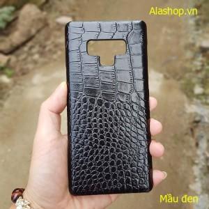 Ốp lưng  da bò samsung Note 9 vân cá sấu