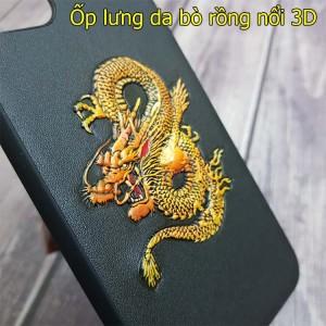 Ốp lưng da iPhone 11 / 11 pro/ 11 pro Max rồng nổi 3D