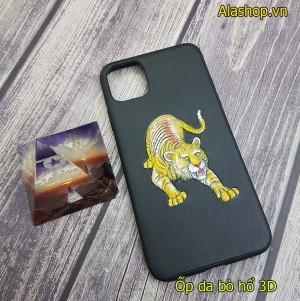 Ốp lưng da iPhone 11 / 11 pro max hình hổ 3D
