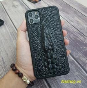 Ốp lưng da iPhone 11 đầu cá sấu 3D