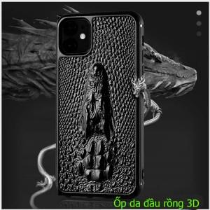 Ốp lưng da iPhone 11 pro đầu cá sấu 3D