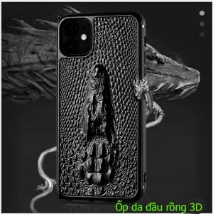 Ốp lưng da iPhone 11 pro max/ 11 pro đầu rồng 3D