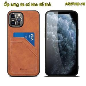 Ốp lưng da iPhone 12 pro max có 2 khe để thẻ