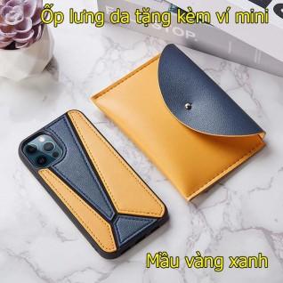 Ốp lưng da iphone 12 pro max tặng kèm ví mini