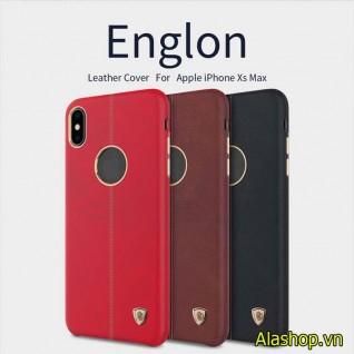 Ốp lưng da iPhone XS max Nillkin Englon