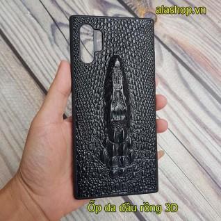 Ốp lưng da samsung Note 10 Plus hình đầu rồng đầu cá sấu 3D
