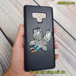 Ốp lưng da samsung Note 9 đại bàng nổi 3D