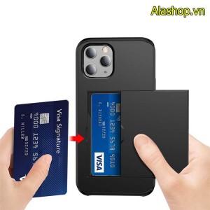 Ốp lưng để thẻ iphone 12 pro max 2 lớp