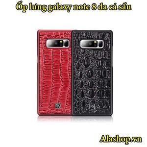 ốp lưng Galaxy Note 8 bọc da cá sấu