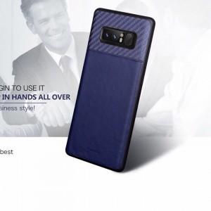 Ốp lưng Galaxy Note 8 bọc da vân cacbon