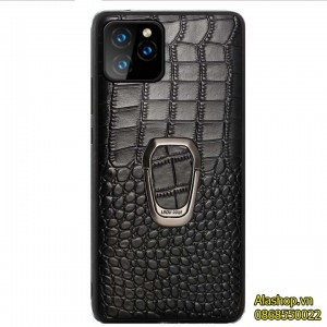 Ốp lưng iPhone 11 da bò sử dụng đế hít trên ô tô