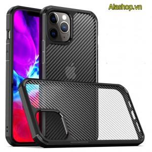 Ốp lưng iPhone 12 pro max chống sốc cao cấp vân carbon 3D